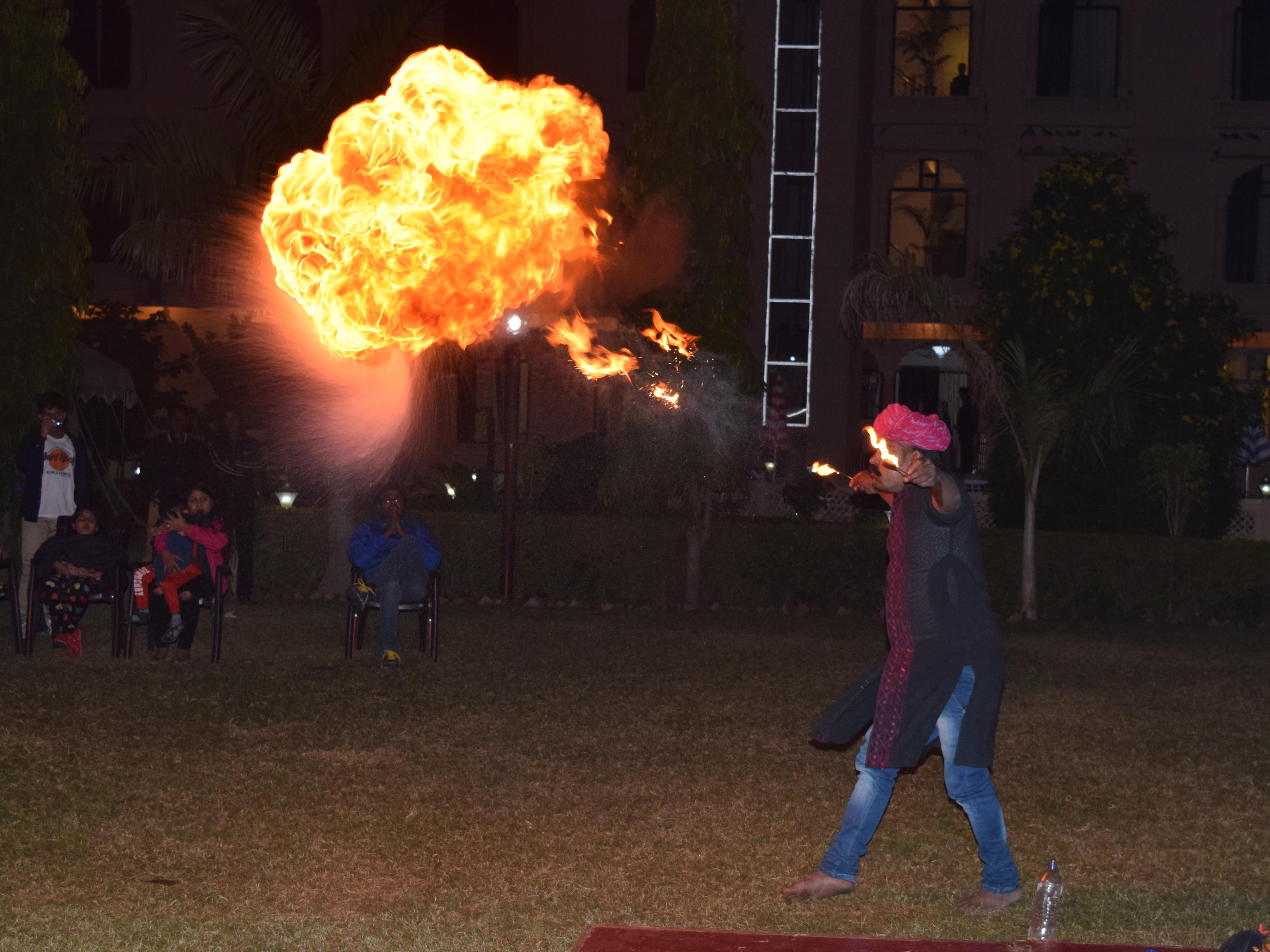 Fireshow at Ranthambore