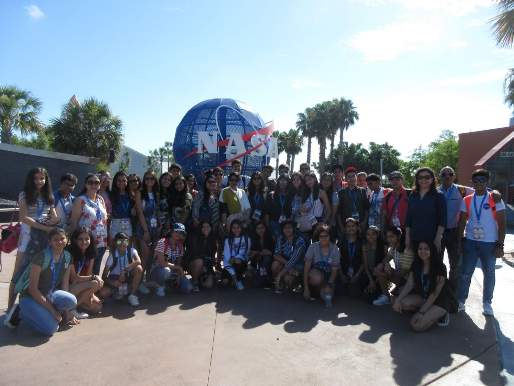 students of DPS Vasant Kunj in Kennedy Space Center